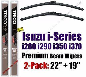 Wipers 2 Pack Premium Wiper Beam Blades - fit 2006-2008 Isuzu I-Series 19220/190