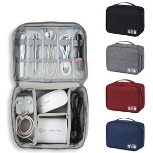 Cable Organizer Bag Travel Case Electronic Accessories Storage Charger USB