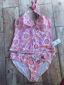 lovely Brightly Coloured Tankini Set Size 22 top & bottoms NWT