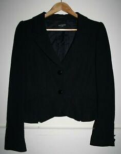 Hobbs London Women's Office Black 100% Virgin Wool Work Blazer Jacket Size 12UK