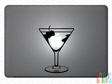 """Aufkleber Martini Glas Martiniglas für Apple Macbook 13""""15"""" Pro Air Sticker Skin"""