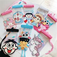 Hot dibujos animados Doraemon meldoy a prueba de polvo impermeable bolsa Cubierta Protector Teléfono Celular