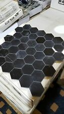 1 x  sheet of marble hexagon mosaic tile