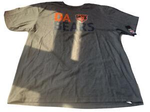 Chicago Bears NFL Majestic Tee 2xl Men's Gray Short Sleeve T-shirt