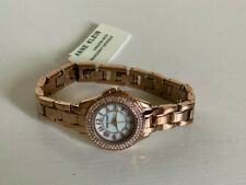NEW! ANNE KLEIN AK SWAROVSKI CRYSTALS ACCENTED ROSE GOLD BRACELET WATCH $85 SALE