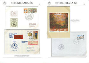 Stockholmia `86 A24 Philately Exhibition Covers Germany DDR Guernsey UK