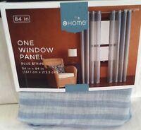 "TARGET ONE(1) HOME BLUE STRIPE SHEER WINDOW PANEL GROMMET STYLE 54"" X 84"" NEW"
