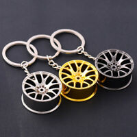 Creative Car Wheel Rim Turbo Metal Pendant Keychain Keyring Hanging Charm Gifts