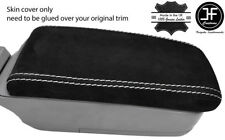 WHITE STITCH REAL SUEDE ARMREST LID COVER FITS SUBARU FORESTER SG9 2006-2008