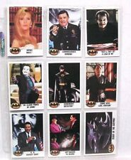 1989 BATMAN Cards & Stickers Set in 9-Pocket Sheets