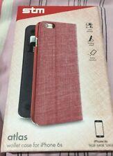 Atlas STM Billetera Estuche para iPhone 6/6s Color Rojo
