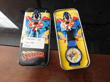 Superman The Man of Steel Watch DC Comics Compass 1991 Vintage Original Tin