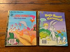 Lot of 2 vintage Looney Toons Little Golden Books Bugs Bunny Road Runner