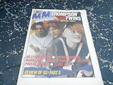 JAN 14 1984 MELODY MAKER music magazine THOMPSON TWINS - LEVEL 42 - PRETENDERS