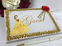 Belle Beauty and the Beast Signature Guest Book Party for Birthday or Sweet 16