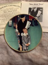 """Men About Town"" Coming of Age Plate Collection by Norman Rockwell"