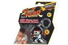 8 Bit Ryu Street Fighter Keychain with LED Light Up Torch Hadoken Sound