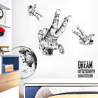 Mural Art Wall Sticker Home Decoration Diy 2pcs Background Space Astronaut N3