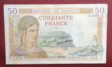France - Joli BILLET DE 50 Francs du   21-3-1935  type Cérès (4)