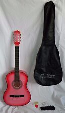 B C Beginners 38 Inch Acoustic Guitar Pink Starter Kit w Accessories Xmas Girls
