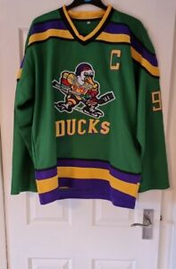 """The Mighty Ducks """"Conway 96"""" Captain Hockey Jersey - XL / Extra Large"""