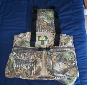 New CABELA'S Turkey Hunting Vest with Seat and Game Pouch NEW NWOT NICE SWEET