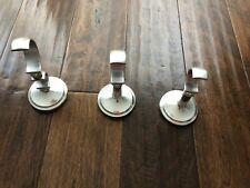 Restoration Hardware Drapery Pole Holders, Silver, 3 In Lot