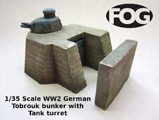 1/35 Scale WW2 German Tobrouk bunker with Tank turret - Ceramic Diorama