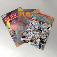 FUSION COMICS 1988 SET 3 ECLIPSE SCI-FI HORROR #6 #8 #9 ARTISTIC Superhero EUC