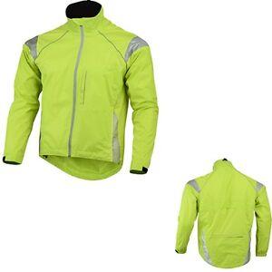 Mens Cycling /Running Rain Jacket High Visibility Breathable Wind/ Waterproof