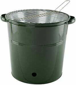 Tall Heavy Duty Metal Bucket BBQ With Stainless Steel Top 3 Colours