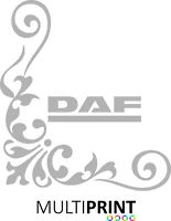 DAF2 X Lorry Truck Cab Window Stickers Calligraphy Corner Vinyl Graphics LOR31