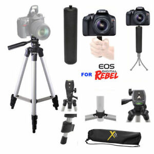 """50"""" PRO TRIPOD + SPORTS STABILIZING  GRIP FOR CANON EOS REBEL T3 T3I T4 T5 T6"""