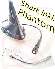 AM/FM aktiv Shark Dach Antenne schwarz 12V RAKU 2 Anschluss+ Phantomeinspeisung