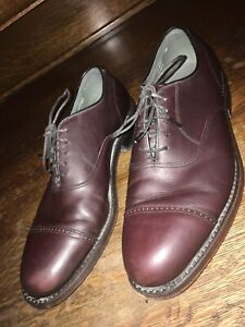 footjoy classics men's oxfords dress shoes brown leather SZ 8.5 D made in USA