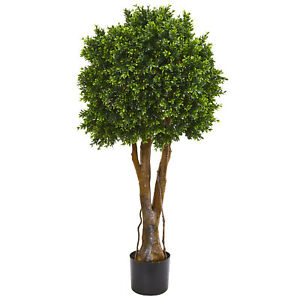 """Boxwood Artificial Topiary Tree UV Resistant Nearly Natural 46""""Home Garden Decor"""