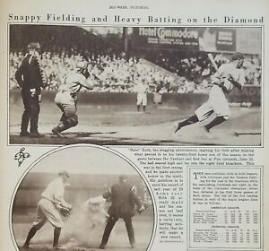 July 8, 1920 Babe Ruth Mid-Week Pictorial The New York Times Yankees Newspaper