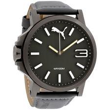 Puma Ultrasize XL Green Dial Leather Strap Men's Watch PU103461004