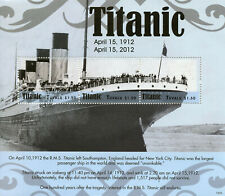 Tuvalu 2012 MNH RMS Titanic 100 Years 3v M/S Boats Ships Nautical Stamps