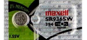 1 x Maxell 394 Watch Batteries, SR936SW or 380 Battery | Shipped from USA