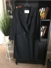 Pendleton Women's Long Coat 100% Virgin Wool Size 6 Black Excellent #C5