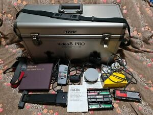 Sony Video8 PRO LCH-V200 case + Filter Kit, Tele Conversion Lens, Remote & more