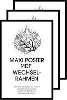 3 St. Wechselrahmen f. Maxi-Poster 3cm MDF Holzfaserwerkstoff 61x91,5cm schwarz