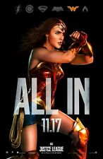 Wonder Woman movie poster (JL2) - 11 x 17 inches - Justice League, Gal Gadot