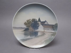 Bing Gröndahl Wandteller Teller 357-25 6092 See Gehöft ca 25 cm Ø