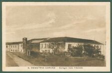 Calabria. S.DEMETRIO CORONE, Cosenza. Collegio italo-albanese. Cart. viagg. 1929