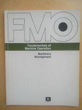John Deere Fundamentals of Machine Operation Book - Machinery Management Fmo