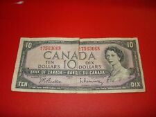 1954 - Canada $10 bank note - Canadian ten dollar bill - KV7563668