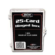 10-BCW 25 Count Hinged Plastic Baseball Trading Card Boxes protector hinge box