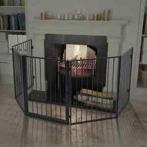 Pet Safety Fireplace Steel Fence Grill Stove Safe Barrier Gate Dog Cat Fireguard